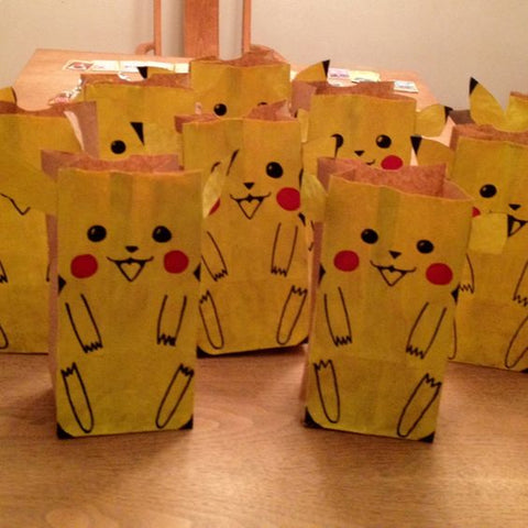 Pokemon birthday party loot bag