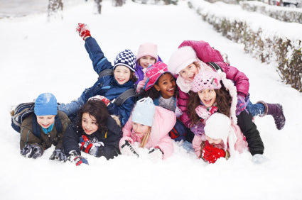 Kids playing winter