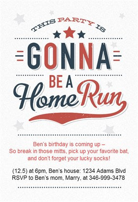 Baseball birthday party invitation on Etsy