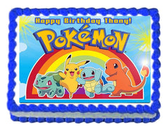 Pokemon Birthday party edible cake topper