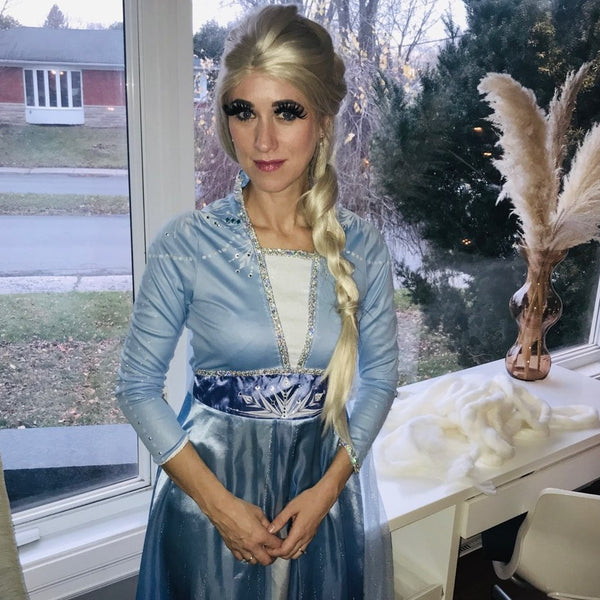 Princess virtual birthday party with Elsa by video chat