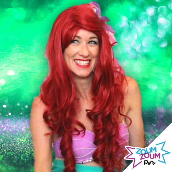 Princess birthday party with Ariel by video chat