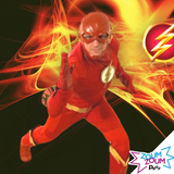 Superhero birthday party with Flash by video chat