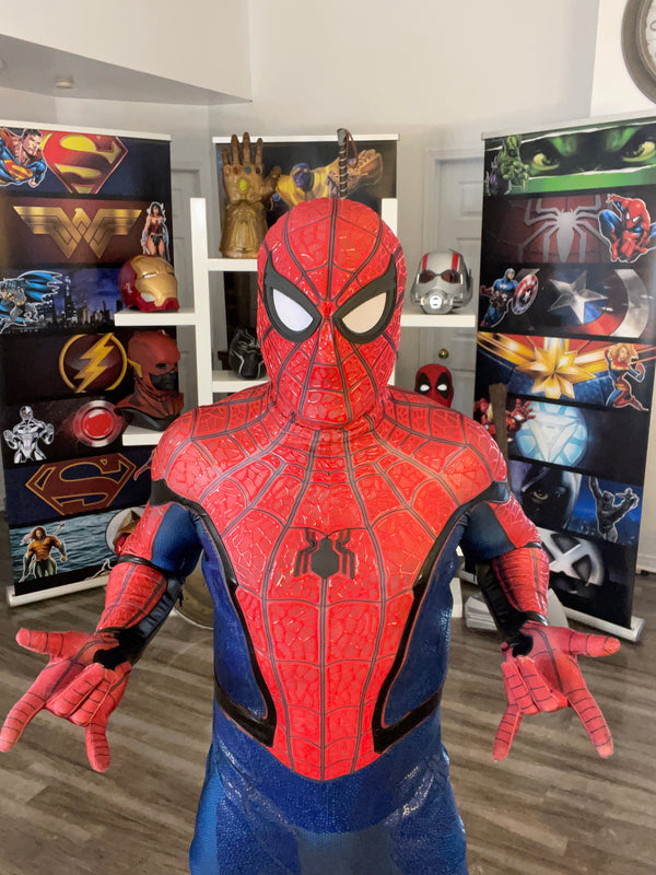 Superhero virtual birthday party with Spider- Man by video chat