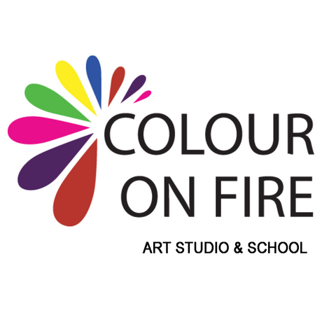 Paint & Create Party in Calgary (16 kids) with COLOUR ON FIRE by video chat
