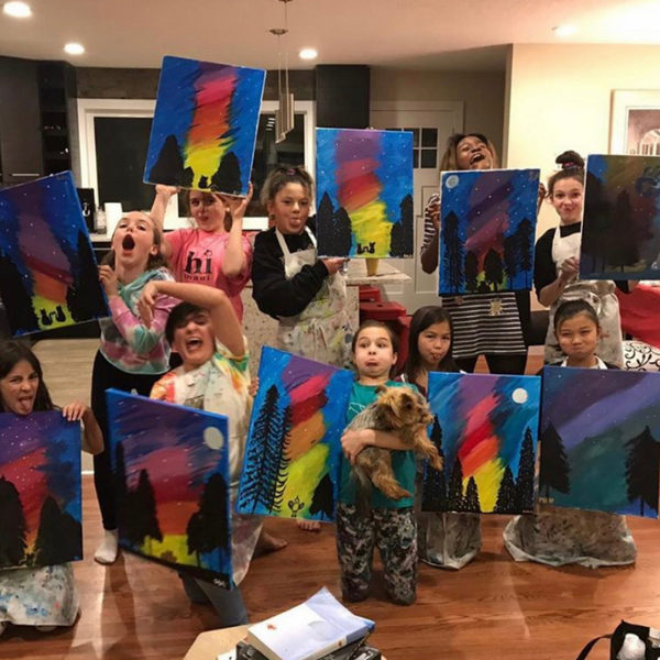 Art & Paint Party (15 kids) at RAW CANVAS