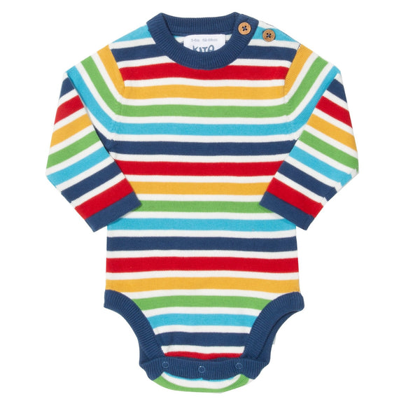Striped Knit Body, 0-1 month