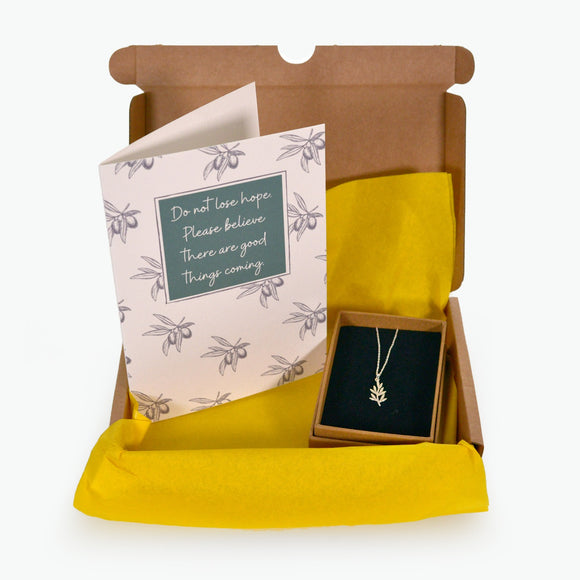 OLIVE BRANCH PENDANT GIFT BOX