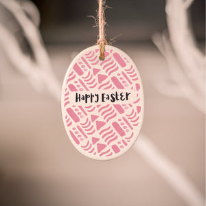 Pink Pattern Easter Decoration