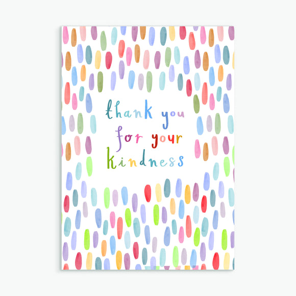 thank you for your kindness - A6 greetings card