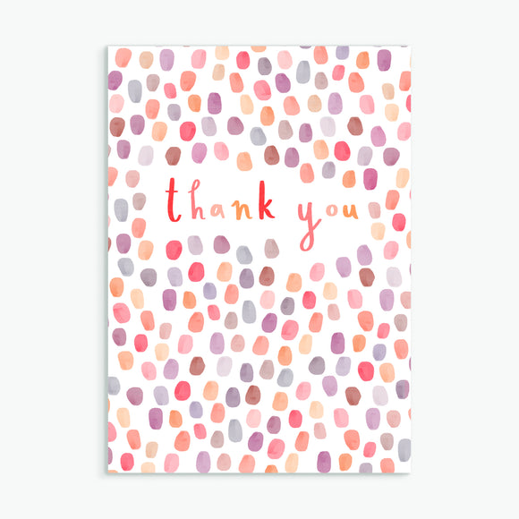thank you - A6 greetings card