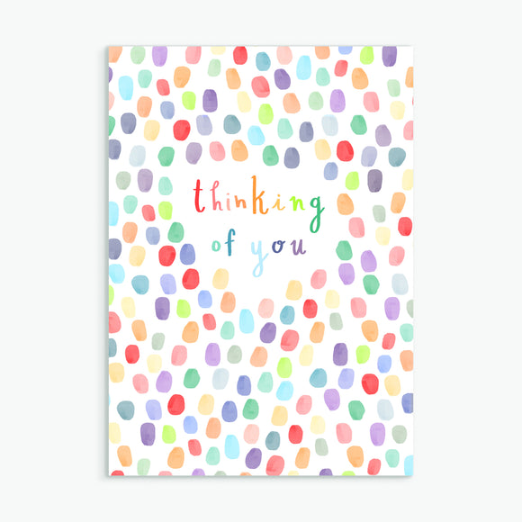 thinking of you - A6 greetings card