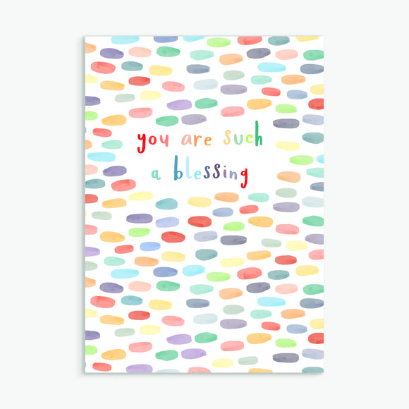 you are such a blessing - A6 greetings card