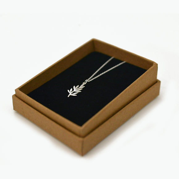 Sterling Silver Olive Branch Pendant