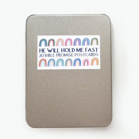 30 BIBLE PROMISE POSTCARDS - 'HE WILL HOLD ME FAST'