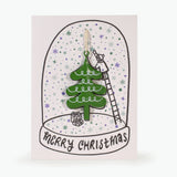 METAL CHRISTMAS DECORATION CARD - CHRISTMAS TREE