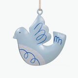 METAL CHRISTMAS DECORATION CARD - DOVE