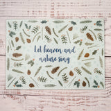 Let Heaven & Nature Sing! Glass Cutting Board