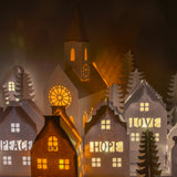 Christmas Paper House Lights