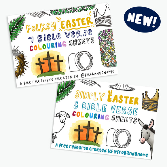 FREE EASTER Colouring Sheets - The Easter Story, Bible Verse Colouring, Easy & Challenging Versions