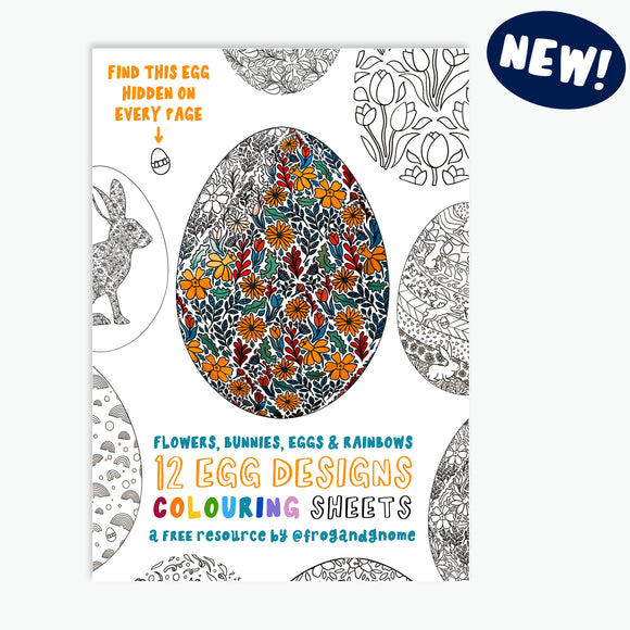 FREE EASTER Colouring Sheets - Flowers, Bunnies, Eggs and Rainbows