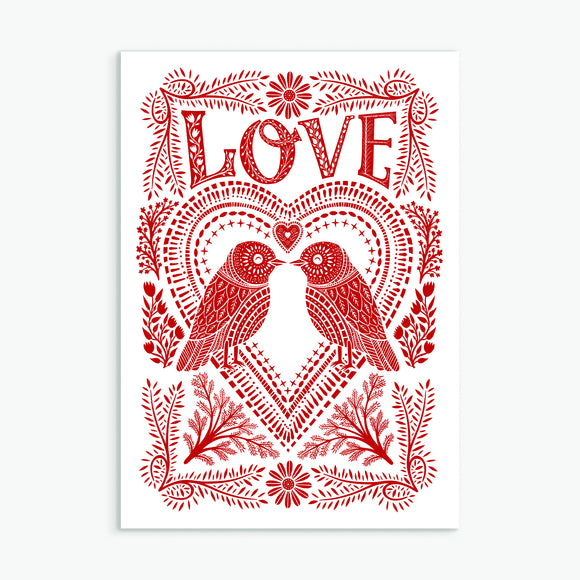 Folk Love Card