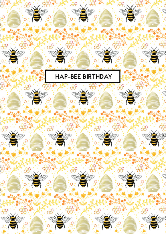 Hap-Bee Birthday A6 Card