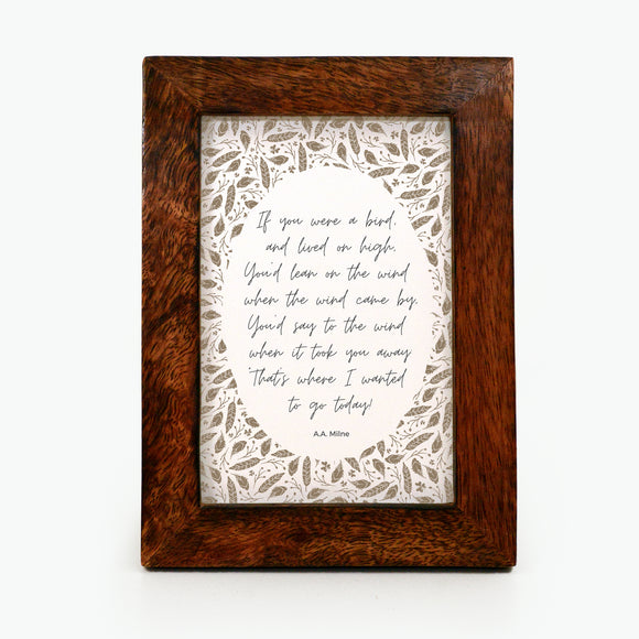 If you were a bird - Framed Print
