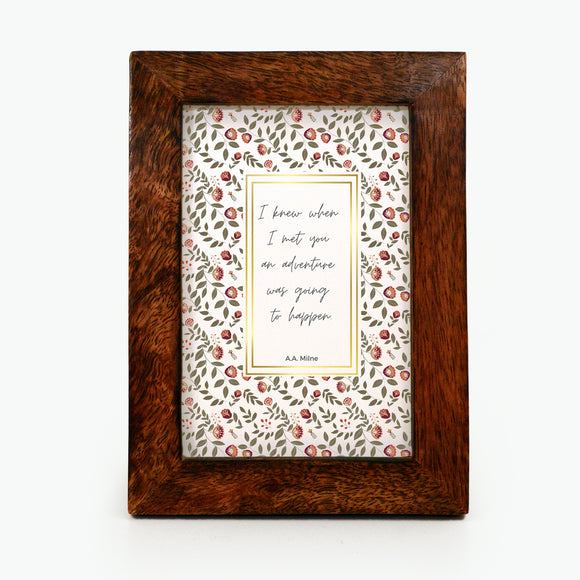 I knew when I met you - Framed Print