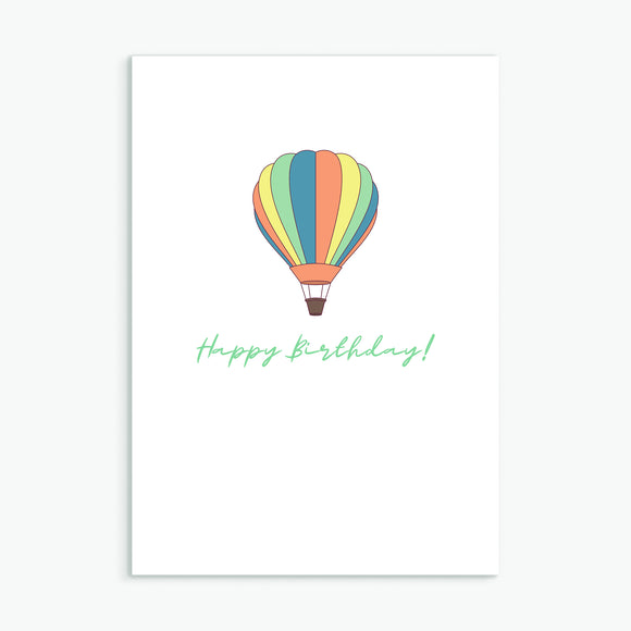 Happy Birthday Hot Air Balloon Multi