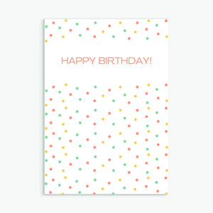 Dotty Birthday Coral