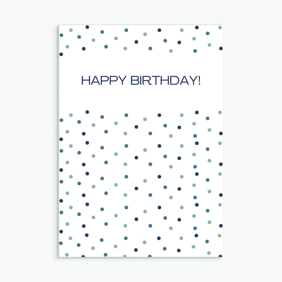 Dotty Birthday Navy