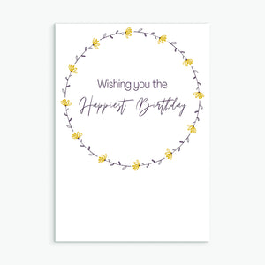 The Happiest Birthday Yellow Wreath