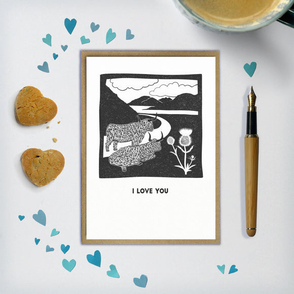 Customisable Highland Cow Card / Print