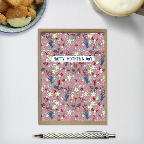 Happy Mother's Day / Wildflowers (Pink) - A6 greetings card