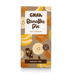 Banoffee Pie Milk Chocolate Bar - Gnaw