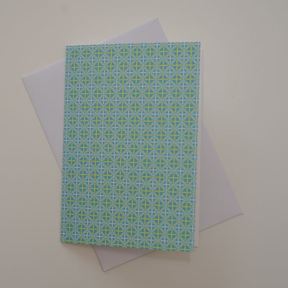 Greetings card - 'Mint Crosses'