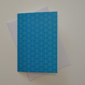 Greetings card - 'Blue Stars'