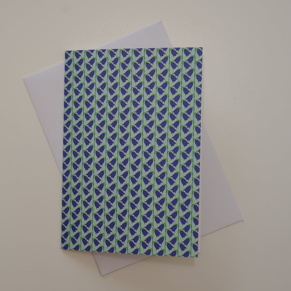 Greetings card - 'Bluebell Lines'