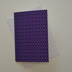Greetings card - 'Purple Drops'