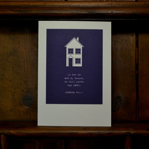 Greetings card - 'As for me and my house, we will serve the LORD. - Joshua 24v15'