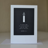 Greetings card - 'He knows what is in the darkness and the light dwells with him. - Daniel 2v22'