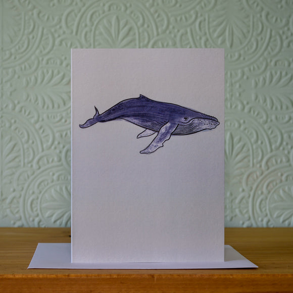 Greetings card - 'Whale'