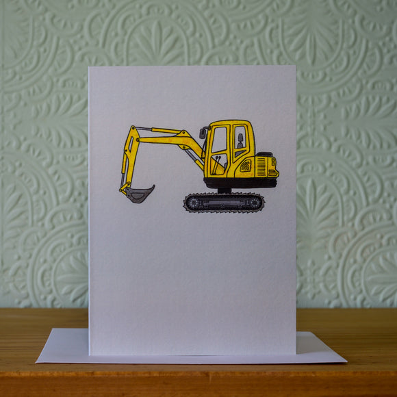 Greetings card - 'Excavator'