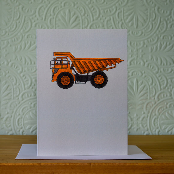 Greetings card - 'Dumper'
