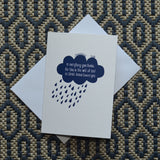 Greetings card - 'In everything give thanks - 1 Thessalonians 5v18'