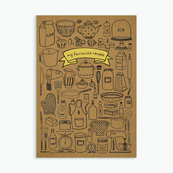 My Favourite Recipes A5 Notebook
