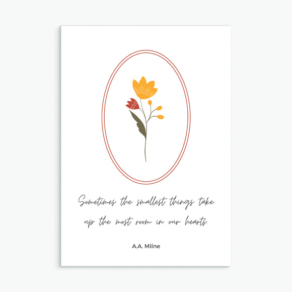 Sometimes the smallest things - Card