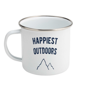 Happiest outdoors - Enamel Mug