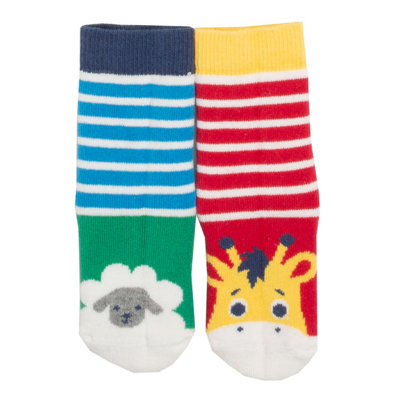 GIRAFFE & SHEEP NEWBORN SOCKS